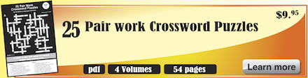 crossword puzzles for english learning pairwork