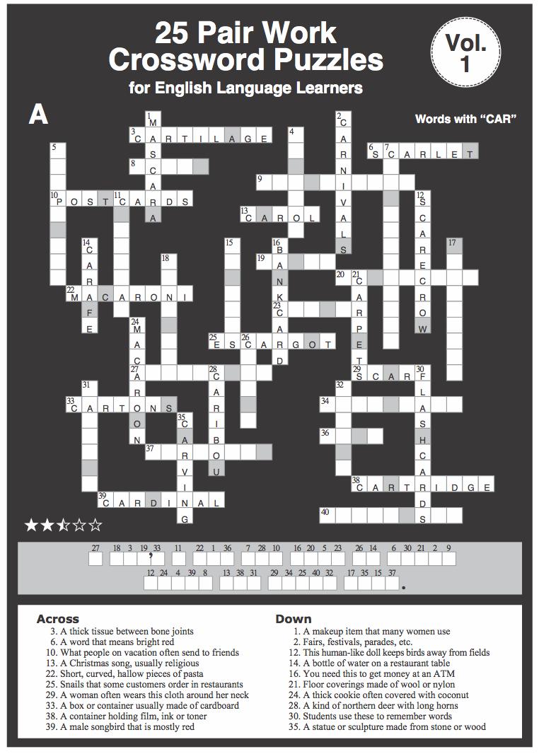 Efl4u Crossword Puzzles